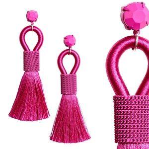 NWT H&M Pink Tassel Earrings